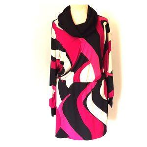Long sleeve Cowelneck Dress